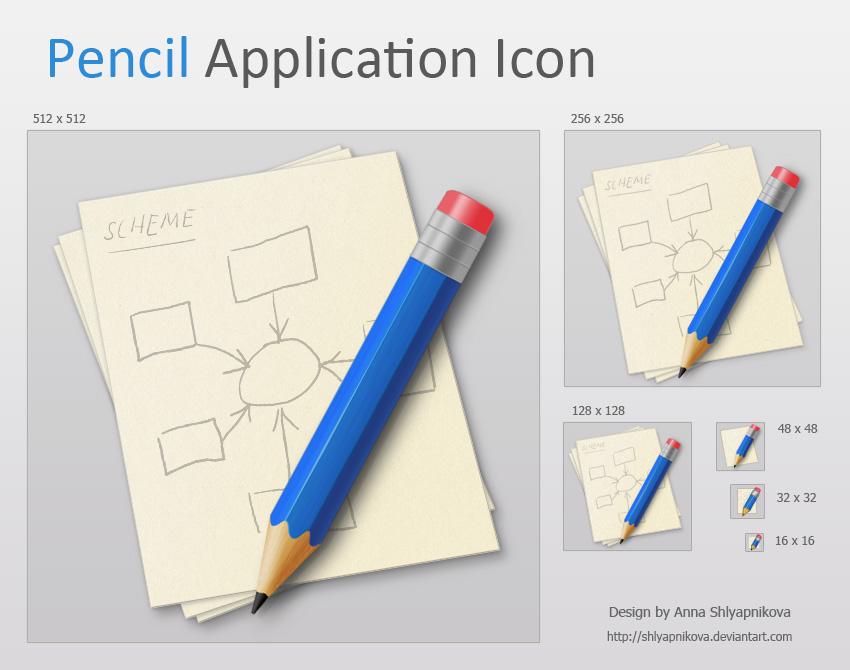 Pencil Application Icon by shlyapnikova