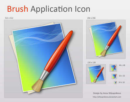 Brush Application Icon