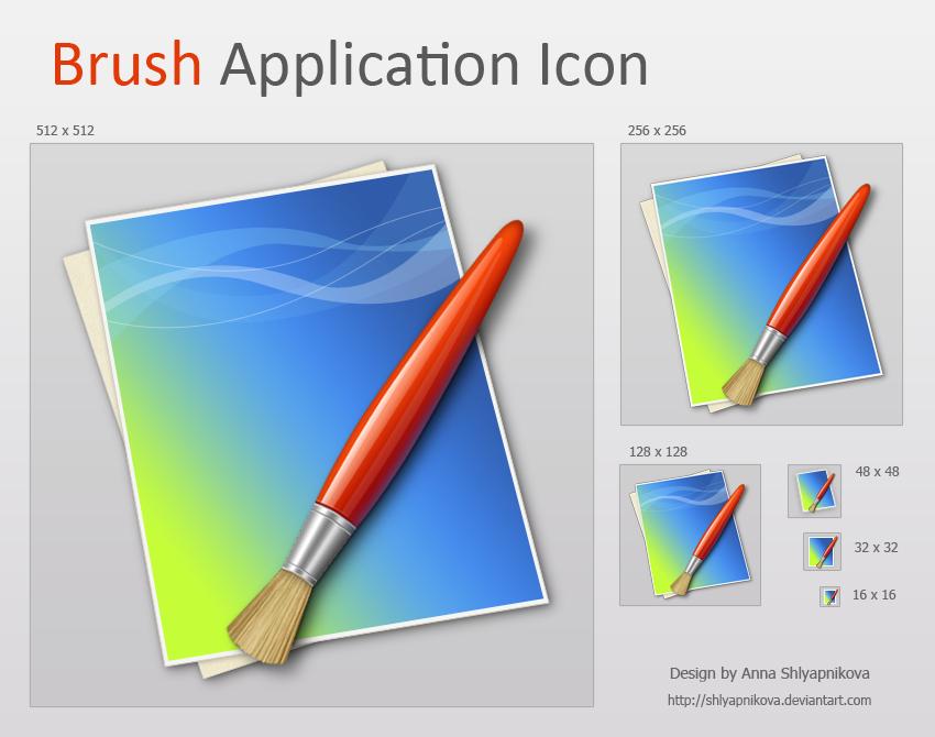 Brush Application Icon by shlyapnikova