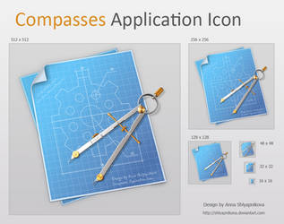 Compasses Application Icon by shlyapnikova