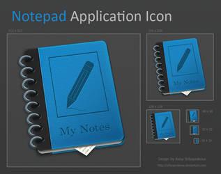 Notepad Application Icon by shlyapnikova