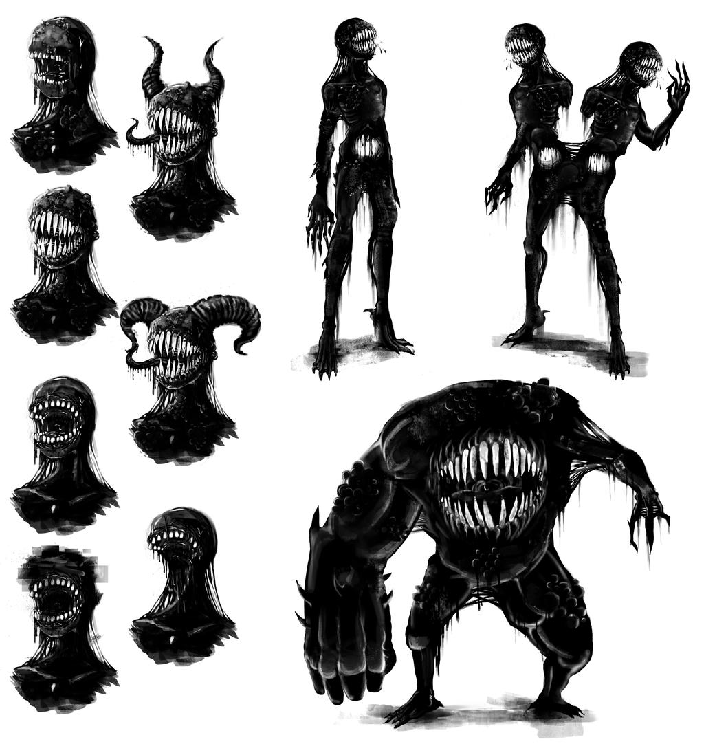 Concept - Tar monster by TheBigBad-Wolf on DeviantArt