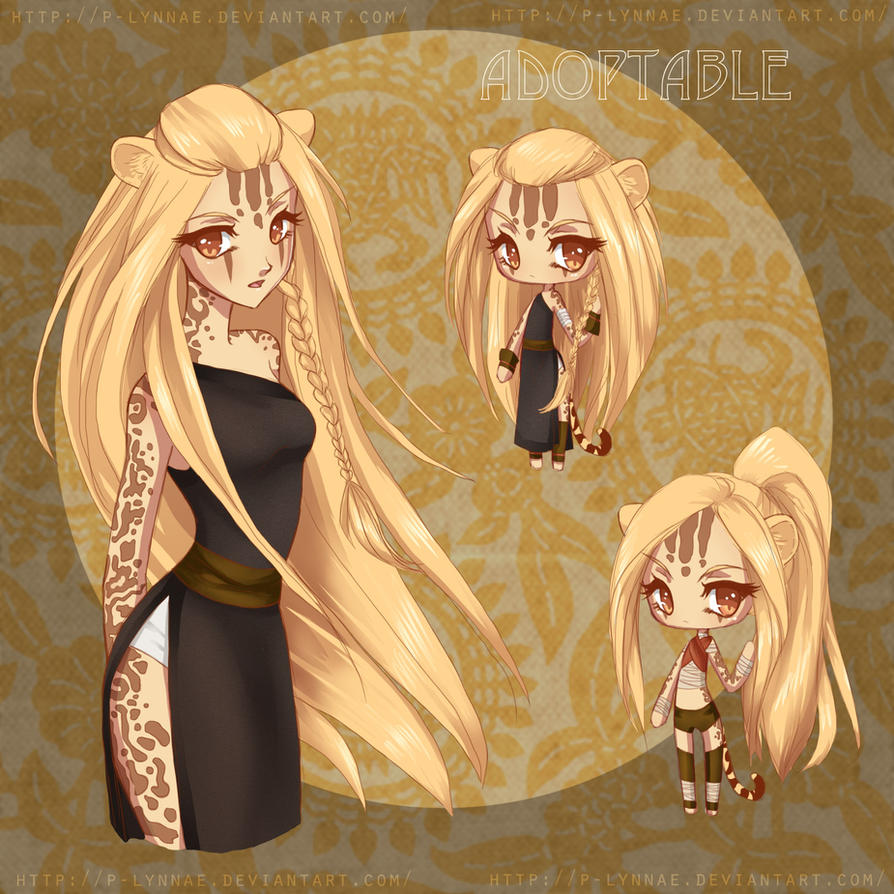King Cheetah Girl Adoptable {CLOSED} by LittleRueKitty