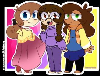 Three little girls by X1-gamer2538