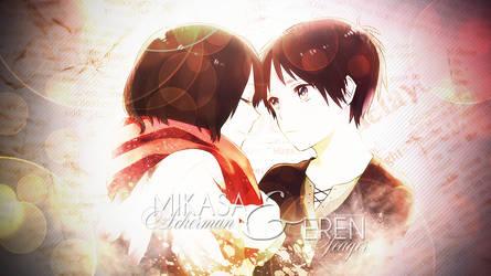Wallpaper - Mikasa and Eren