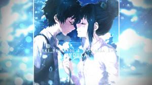 Wallpaper - Oreki Houtarou and Chitanda Eru