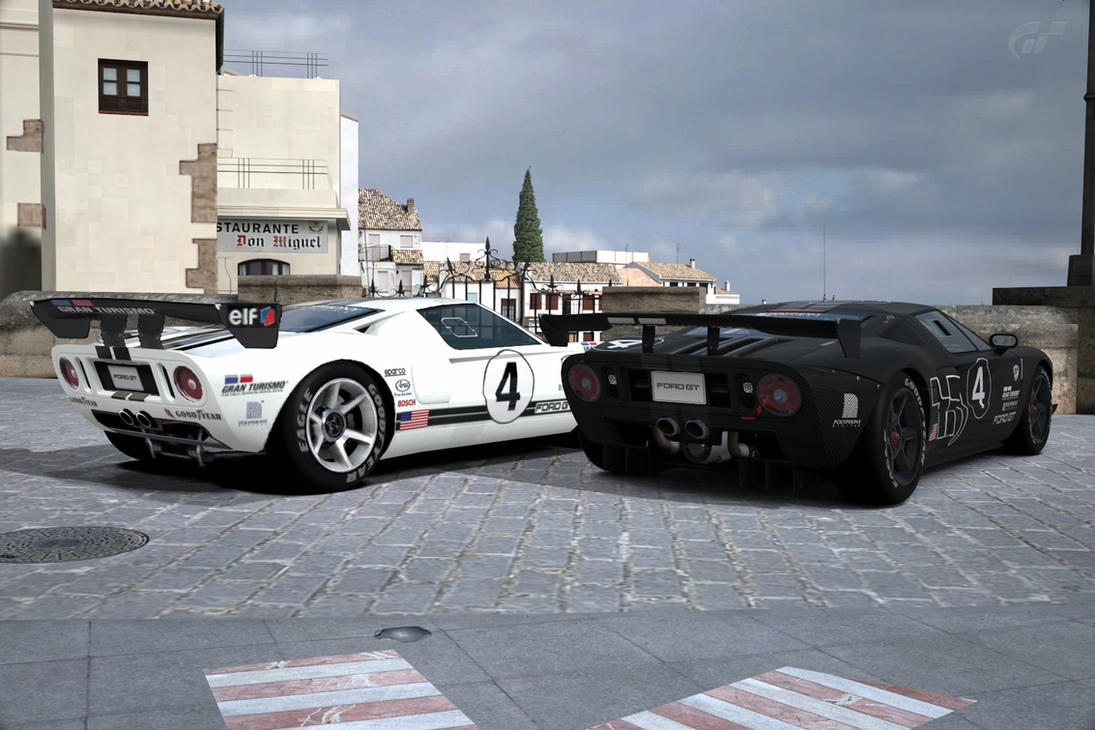 Ford Gt Lm Race Car Test In Ronda Gran Turismo  By Srlangui
