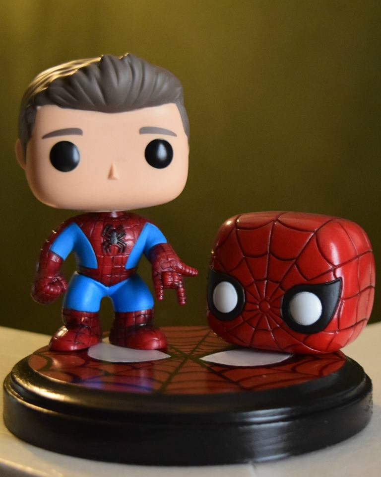 Custom Umasked Spider Man Peter Parker Funko Pop By