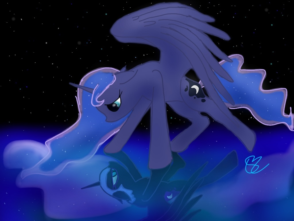Luna and Nightmare Moon mlp by Bright-Wing on deviantART: bright-wing.deviantart.com/art/Luna-and-Nightmare-Moon-mlp-386340881