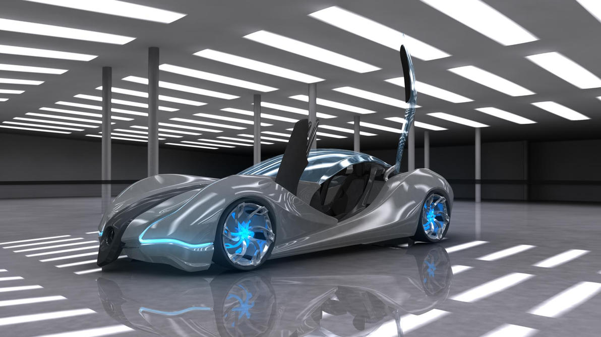 Futuristic Sports Car Wedge