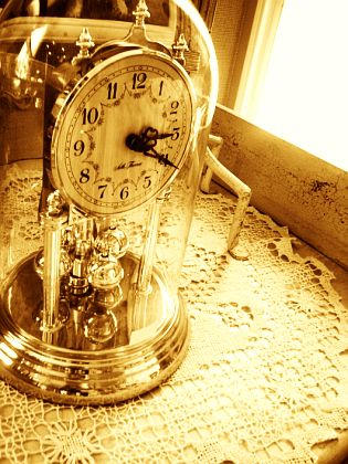 A photograph of an ornate clock.