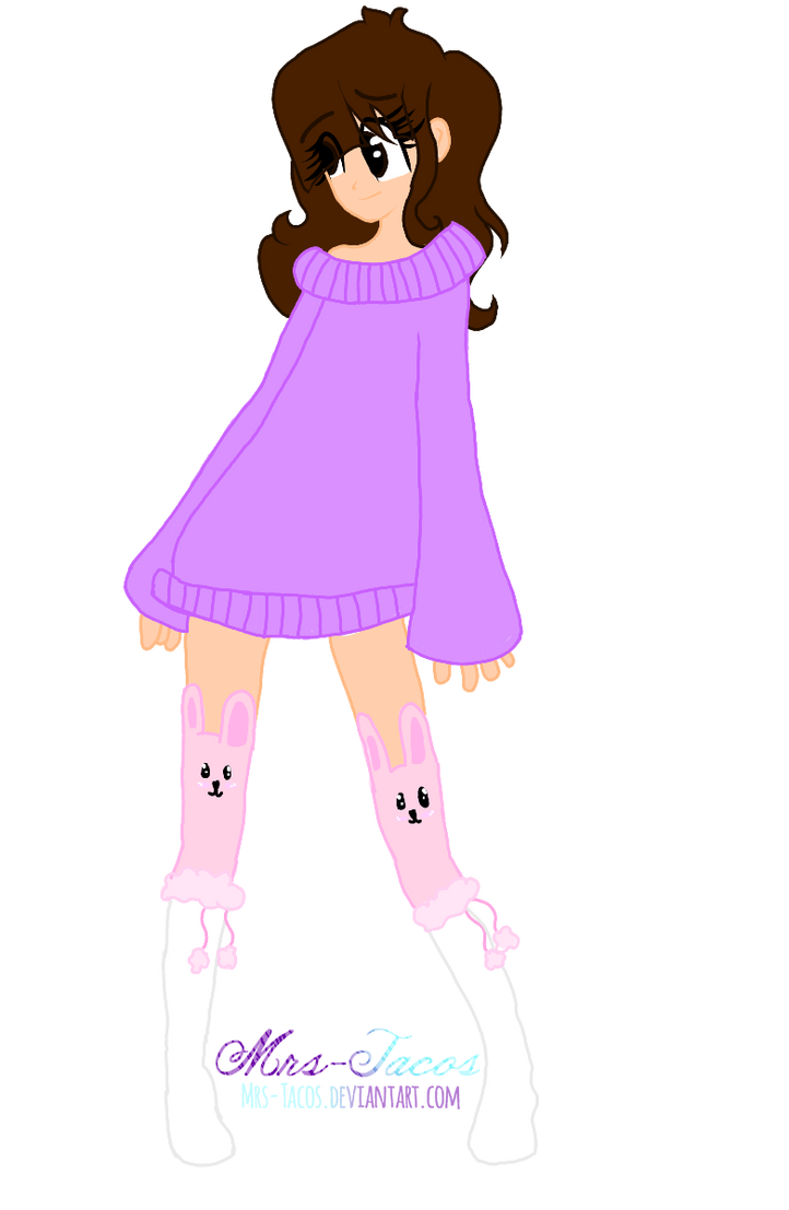 my new main oc! (nonshaded) by Mrs-Tacos