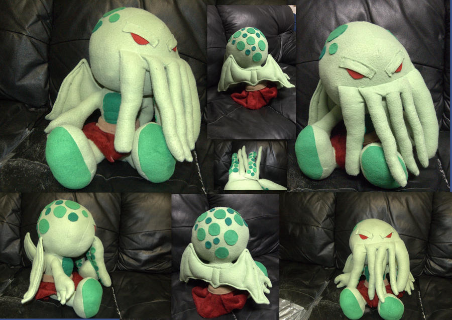 """Cthulhu Saves the World"" Plushie by mariosonic"