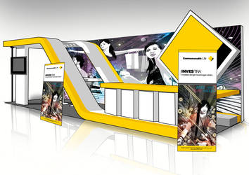 booth display design by ronaldesign