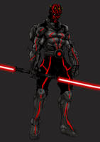 Darthmaul Armored WIP by ronaldesign