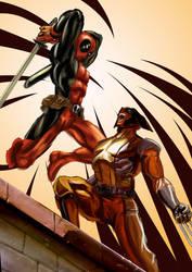 Deadpool VS Wolverine by ronaldesign