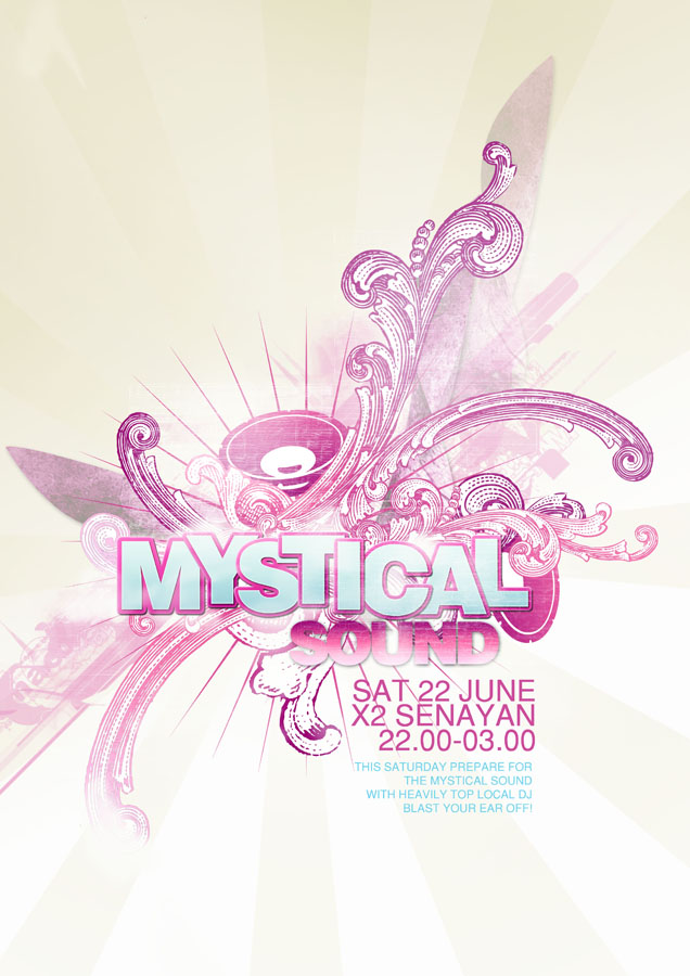 Mystical Sound Poster by ronaldesign
