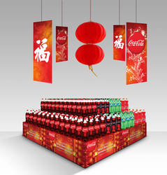 Chinese New Year POSM Coca-Cola Indonesia by ronaldesign