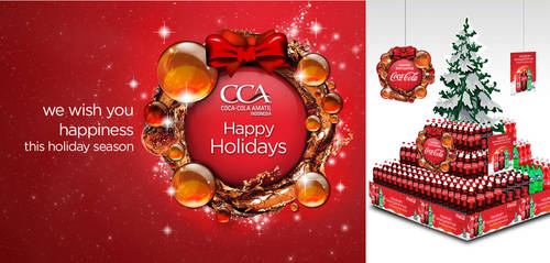 Christmas 2012 POSM Coca-Cola Indonesia by ronaldesign