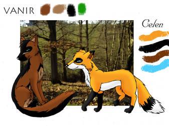 Vanir and Celen by Plug-Fox