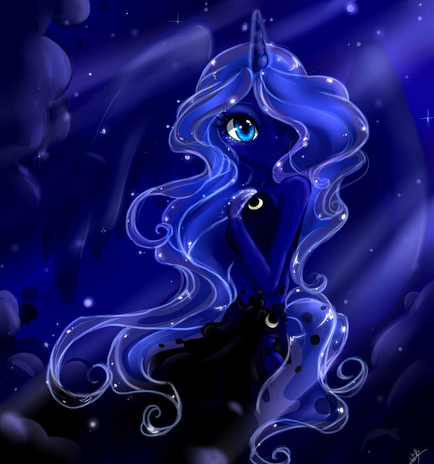 Princess Luna (Thank you!) by wiissbb123600 on DeviantArt