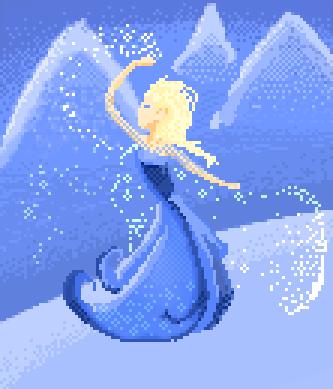 Frozen Elsa Pixel Art By Wiissbb123600 On Deviantart