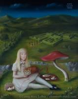 Alice's Picnic in Wonderland by chromatic-black