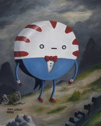 Peppermint Butler oil painting