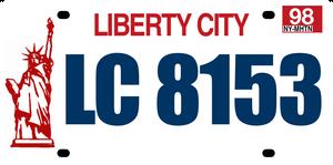 Liberty City License Plate - (1998)