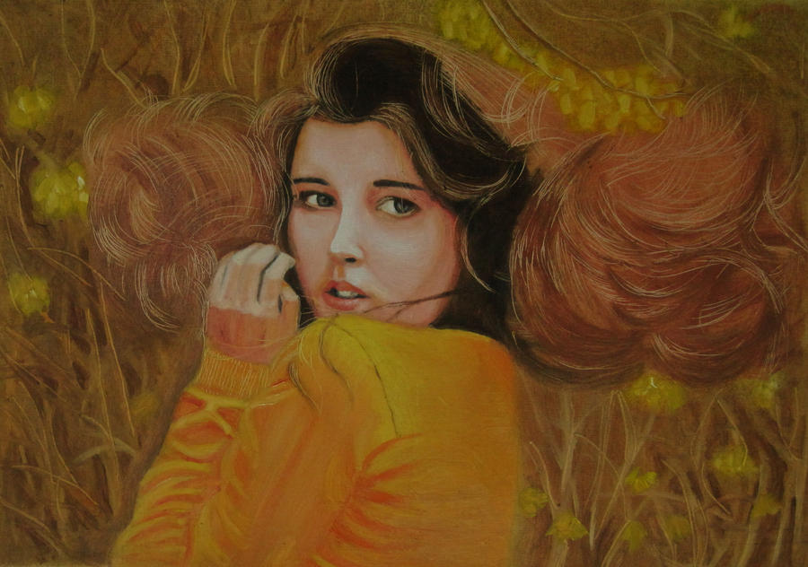 oil painting a beautiful girl by mritunjay singh on