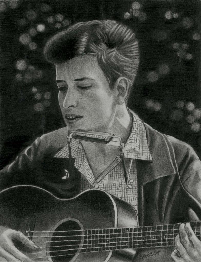 Bob dylan drawing by mritunjay-singh