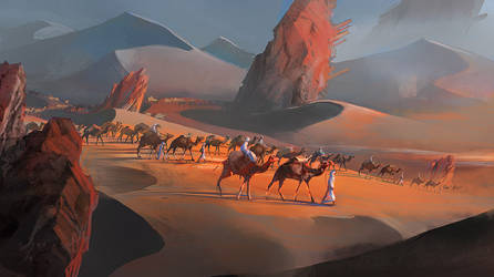 Azalai -salt caravan