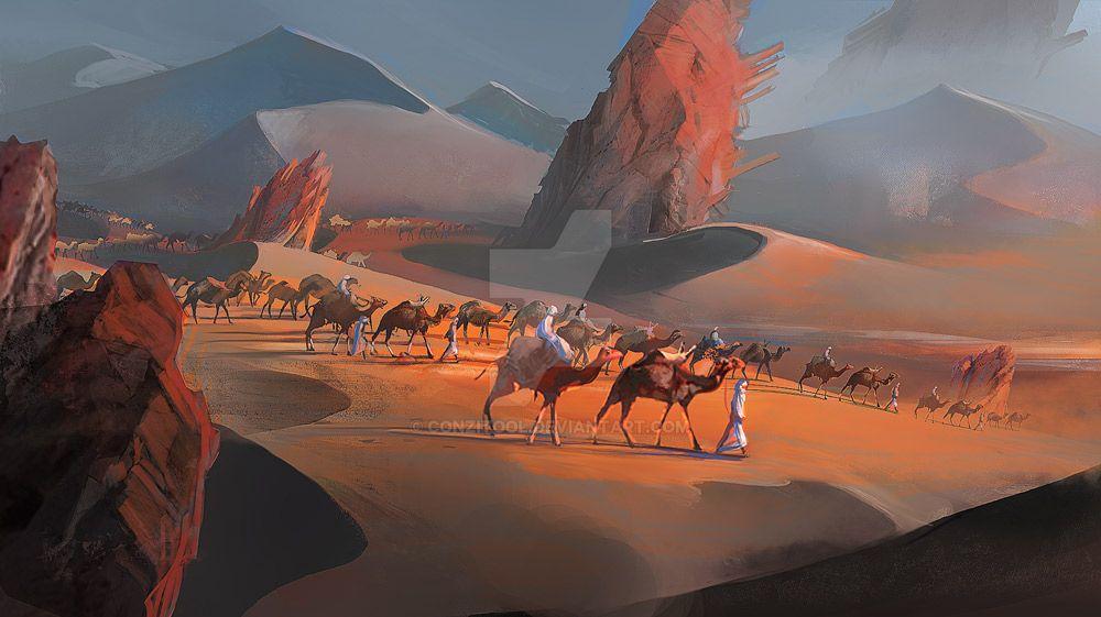 Azalai -salt caravan by conzitool