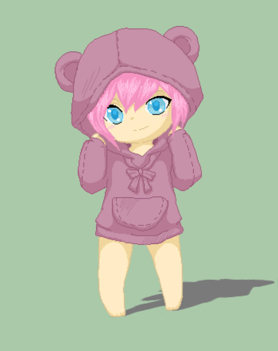 The gallery for --> Anime Girl With Hoodie Anime Female Base With Hoodie