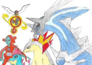 Pokemon X and Y Soul Link Fan art by searingdestiny