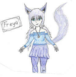 Freya gift art by searingdestiny