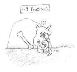 No 9 Precious cubone by searingdestiny