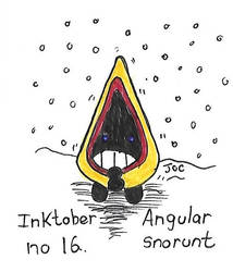 Inktober no 16 Angular Snorunt by searingdestiny