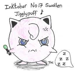Inktober no 17 Swollen Jigglypuff by searingdestiny