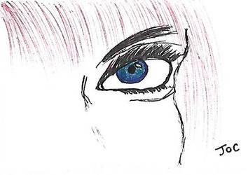 Random eye pen doodle by searingdestiny