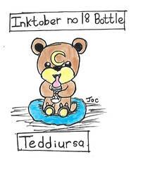 Inktober no 18 bottle Teddiursa by searingdestiny