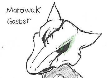 Gaster Marowak skull by searingdestiny