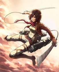 Attack on Titan-Mikasa by ga673899