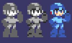 Sprite Practice - Mega Man by YoHeyWhaddup