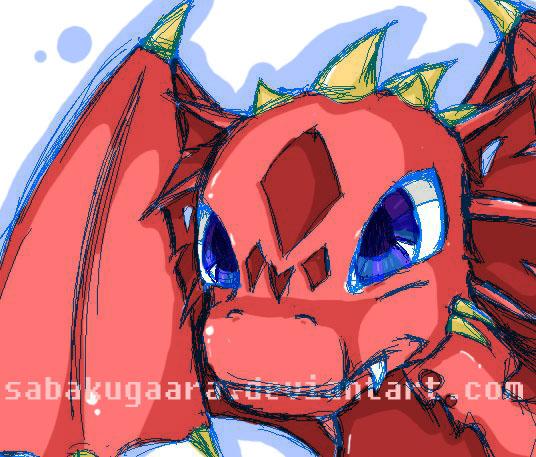 Dragon sketch for Emilyz by sabakugaara
