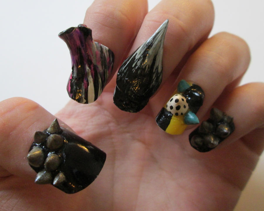 Crazy sculpture nails by henzy89 on DeviantArt