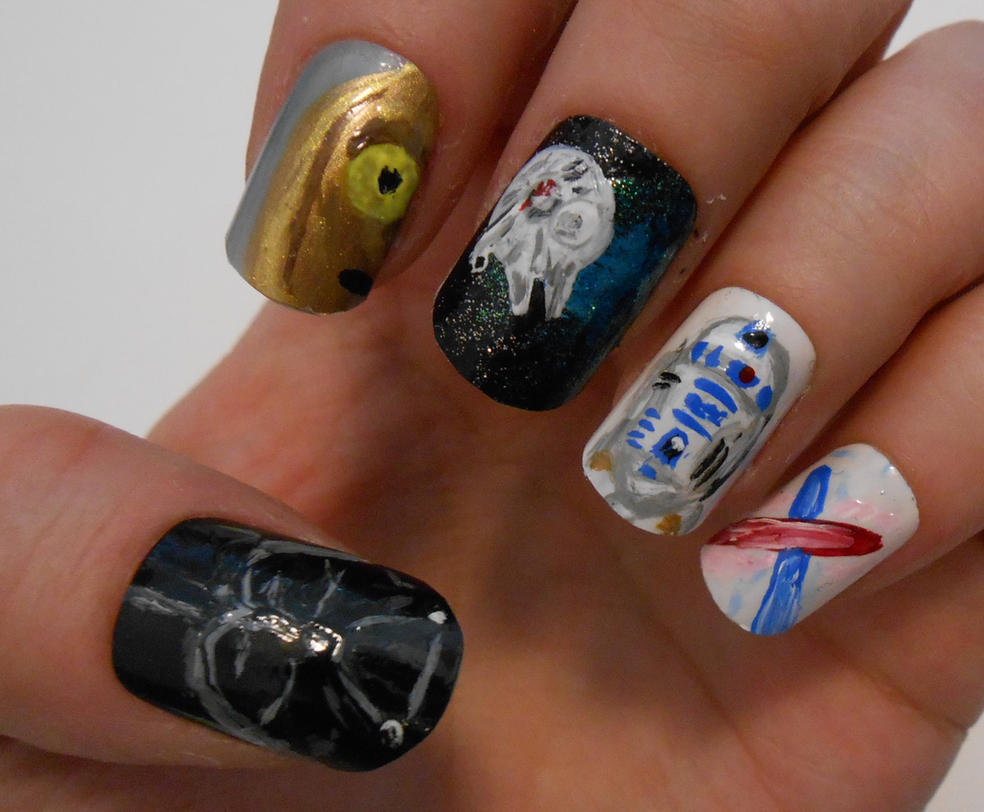 Star Wars nails by henzy89 on DeviantArt