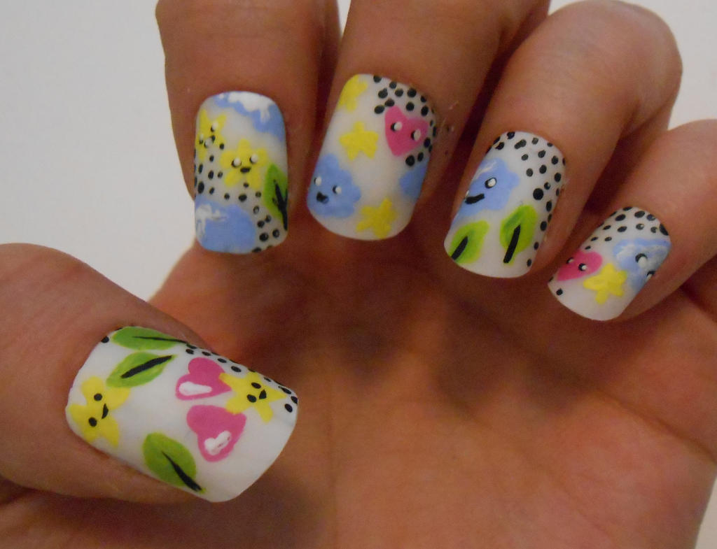 Cute cloud nails by henzy89