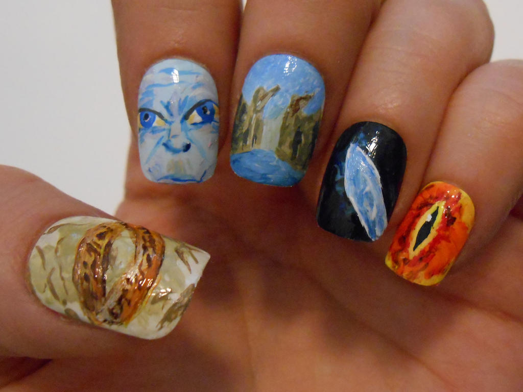 LOTR nails by henzy89 on DeviantArt