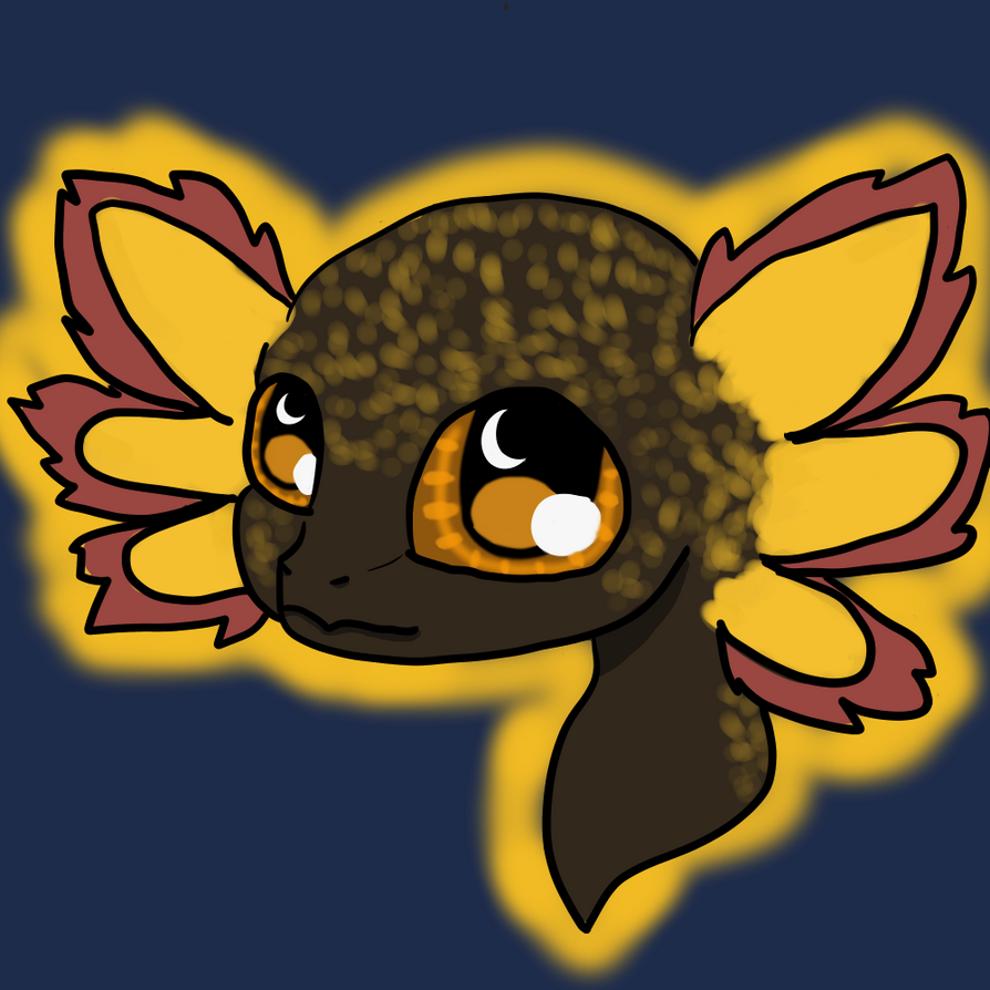 Goldie (updated) by TheGoldenAxolotl